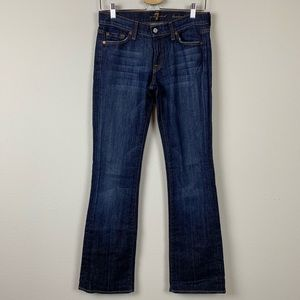 7 for all Mankind Blue Bootcut Jeans Size 27